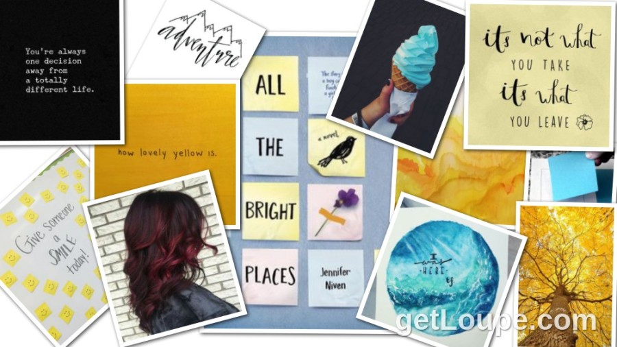 All the Bright Places by Jennifer Niven collage
